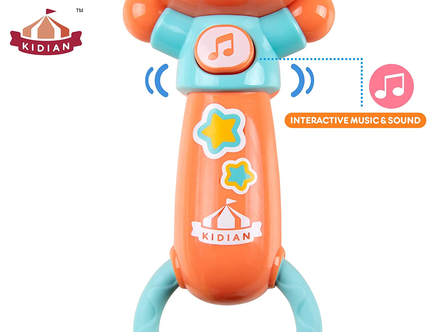 Baby Rattle and Teether Toy Kidian Baby Rattle Shake and Jam Rattle Infant Rattle for 6 Months and Up by Flybar Dog