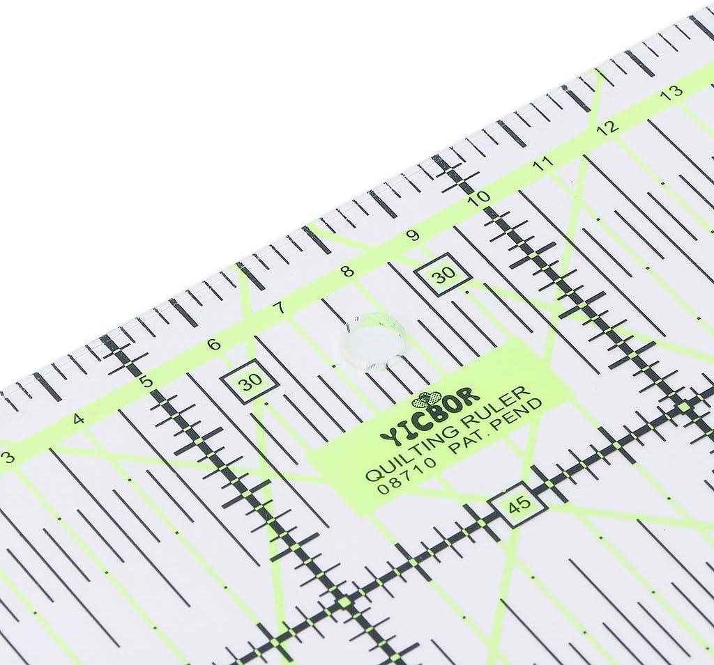 Transparentes Quilten N/ähen Patchwork Lineal Schneidwerkzeug Schneiderhandwerk DIY JERKKY N/ählineal