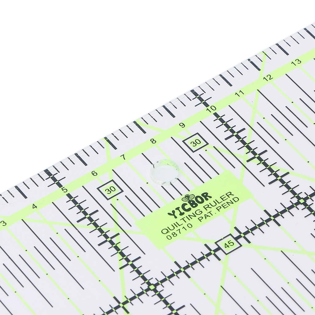 UJuly Transparent Quilting Ruler Tailor Craft with Double Colored Grid Lines for Easy Precision Cutting 5.91x5.91 Square Shape for Quilting Sewing Crafts