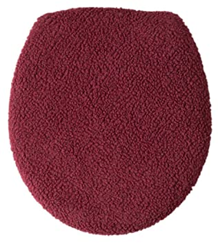 WalterDrake Sherpa Toilet Seat Lid Cover by OakRidge Comforts  Burgundy Amazon com