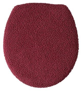 burgundy toilet seat cover. WalterDrake Sherpa Toilet Seat Lid Cover By OakRidge Comforts  Burgundy Amazon Com