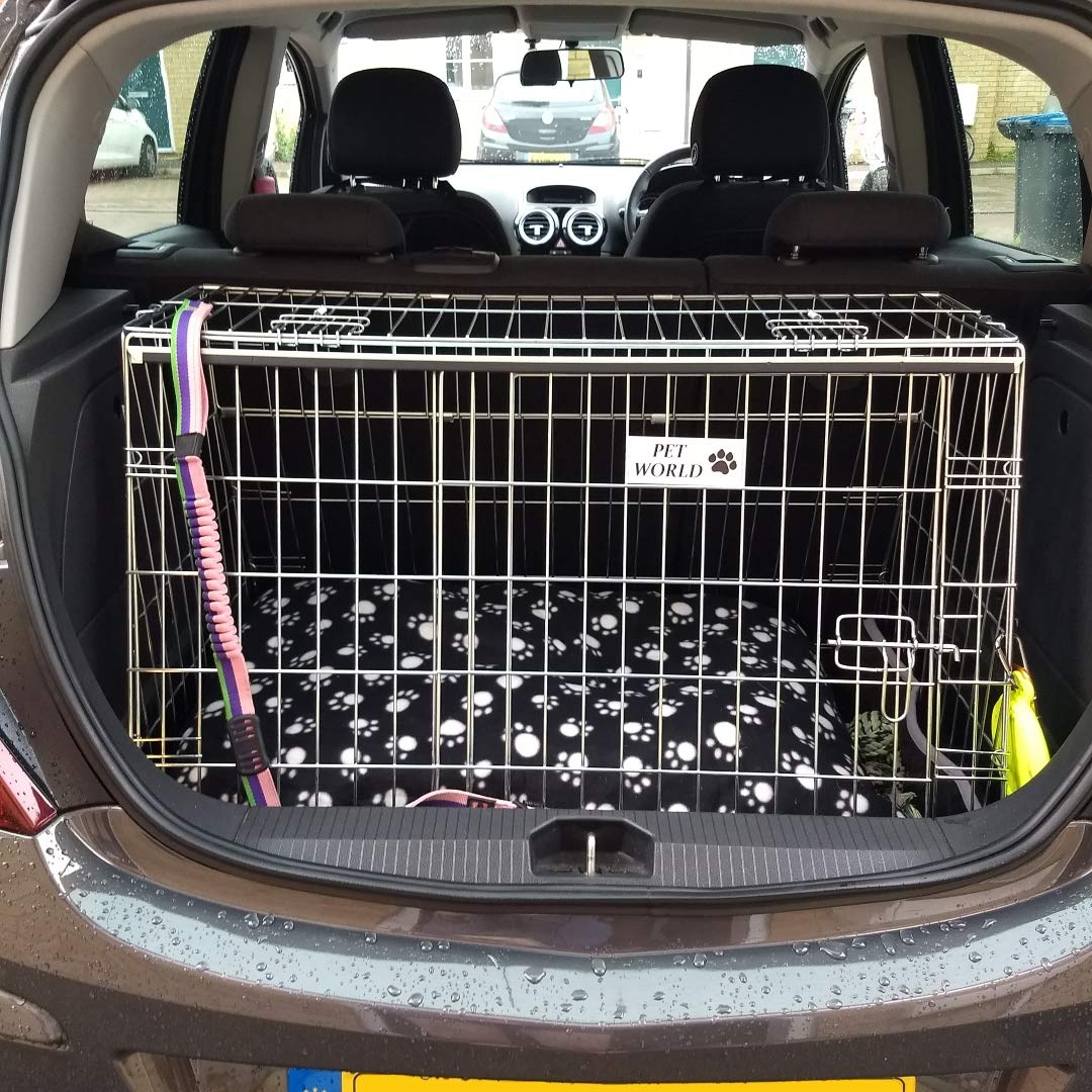 Arrow VAUXHALL CORSA 2006 ONWARDS CAR DOG CAGE SLOPED FRONT GUARD PUPPY CRATE CARRIER
