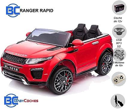 Babycoches - Coches eléctricos para niños Ranger Rapid, 12 V, Coches de batería 12v, Suspension, Coches eléctricos con Mando Parental, Apertura de ...