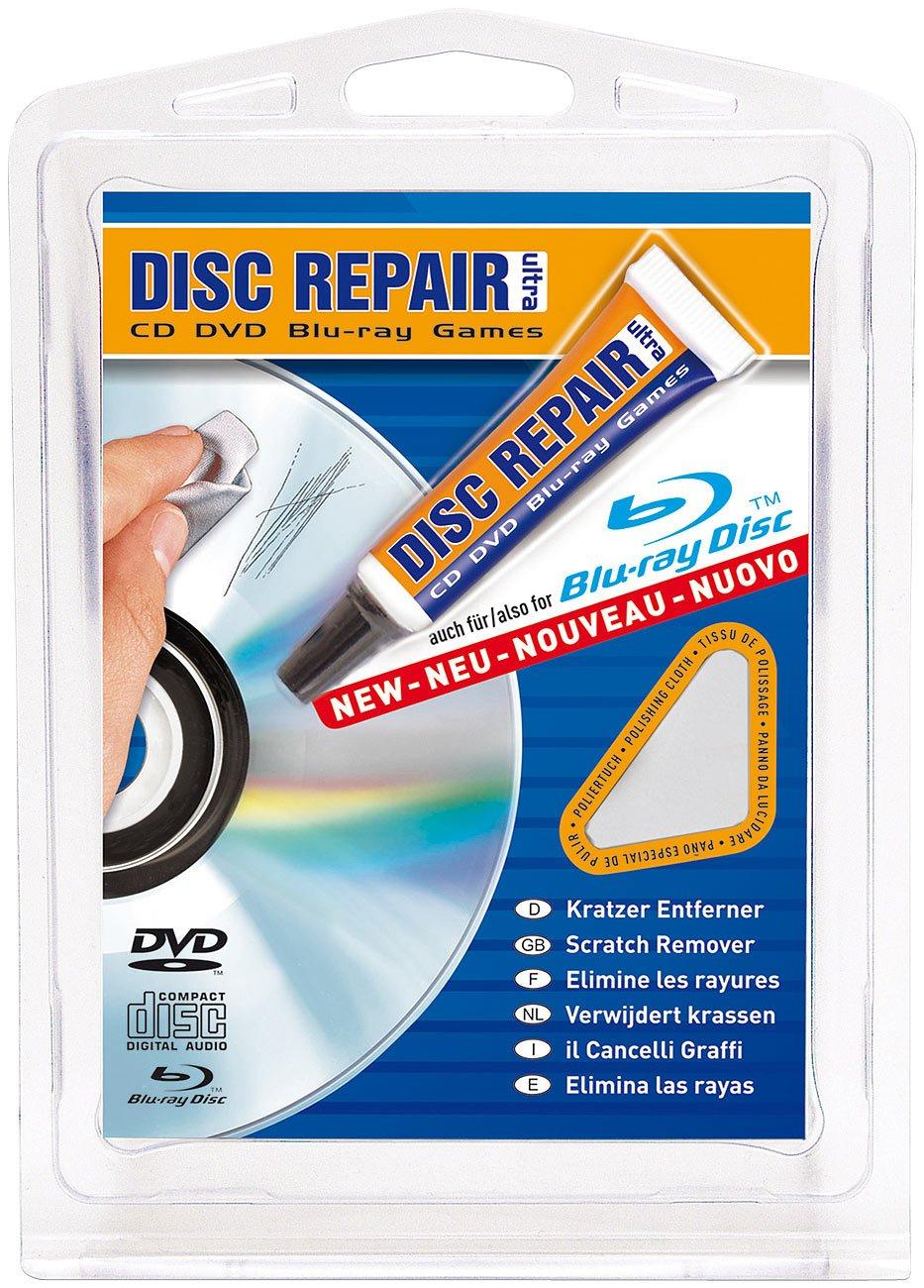 Reparador de discos CD/DVD/Blu-ray, limpia arañazos, incluye gamuza: Amazon.es: Bricolaje y herramientas