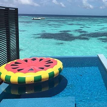 Colchonetas Y Juguetes Hinchables Gigante Inflable Sandía Flotando Fila Agua Flotador Balsa Verano Nadar Piscina Tumbona Playa Anillo: Amazon.es: Jardín