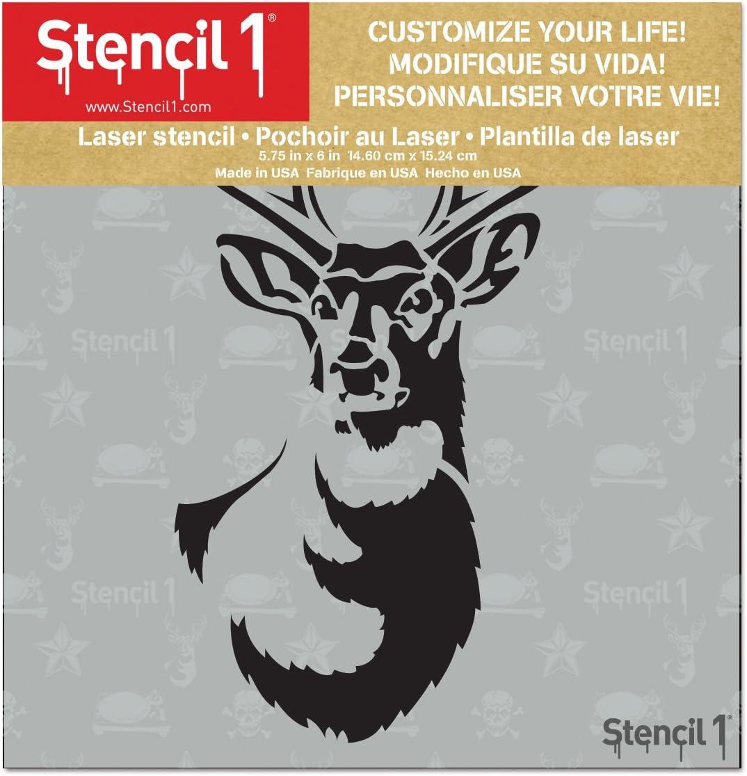 Stencil1 Antlered Deer Stencil 6X6