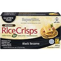Superslim Superslim Brown Rice Crisps 100g (Pack of 12) Black Sesame, Black Sesame, 1200 grams