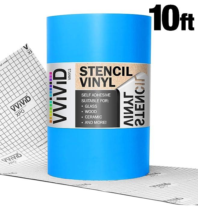 "VViViD Blue Low-Tack Adhesive Vinyl Stencil Masking Film Roll (12"" x 10ft)"