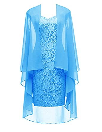 fbeb985af0c Ruiyuhong Women s Short Lace Mother of The Bride Dress with Jacket ...