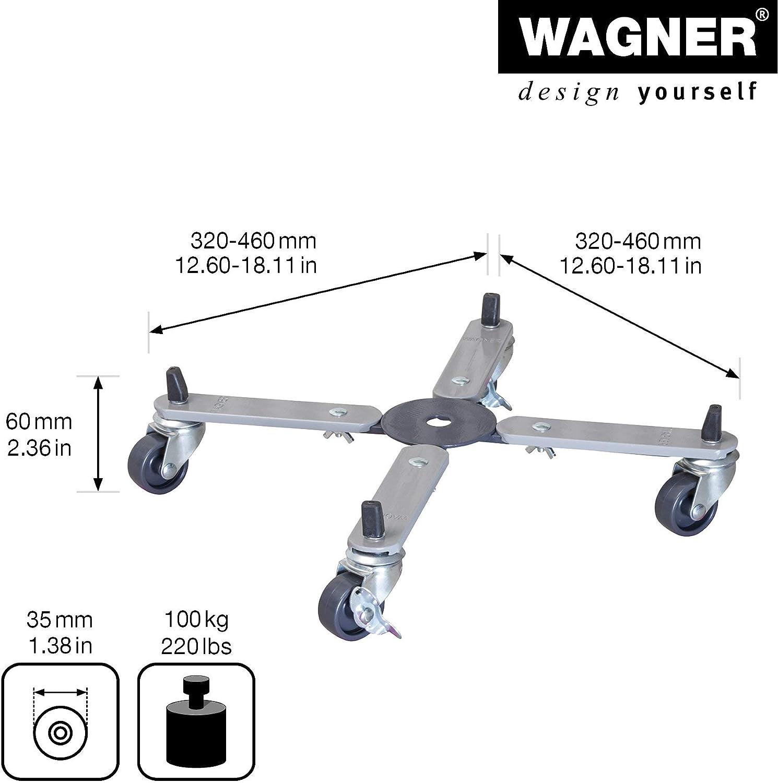 Wagner Carro para Plantas Sun City Basic 32-46 x 6 cm de Superficie útil, Extensible sin escalonamientos I para Exterior + Interior I Carro de Acero I ...