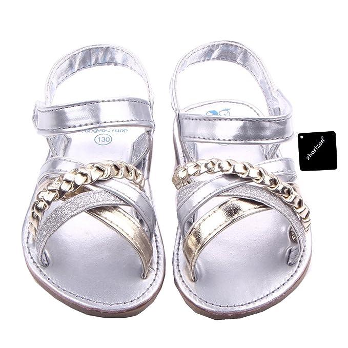 8436eed1673de xhorizon TM SR1 Baby Princess Girls Bling Casual Toddler Sandal Shoes Gift