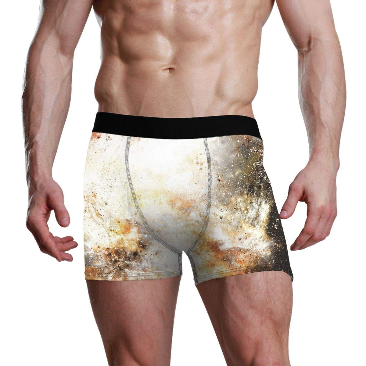 Space and Stars Mens Boxer Briefs Long No Odor Stretchless Mens Underwear SML XL XXL