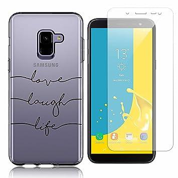 Funda Samsung Galaxy J6 2018 Test de Personalidad Suave TPU Silicona Anti-rasguños Protector Trasero Carcasa para Samsung Galaxy J6 2018 con Un ...