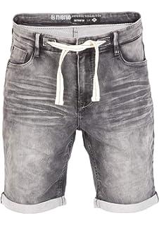 b510df21bb0212 riverso Herren Stretch Jeans Shorts FRED Kurze Hose Sommer Bermuda  Sweathose - schwarz - grau -