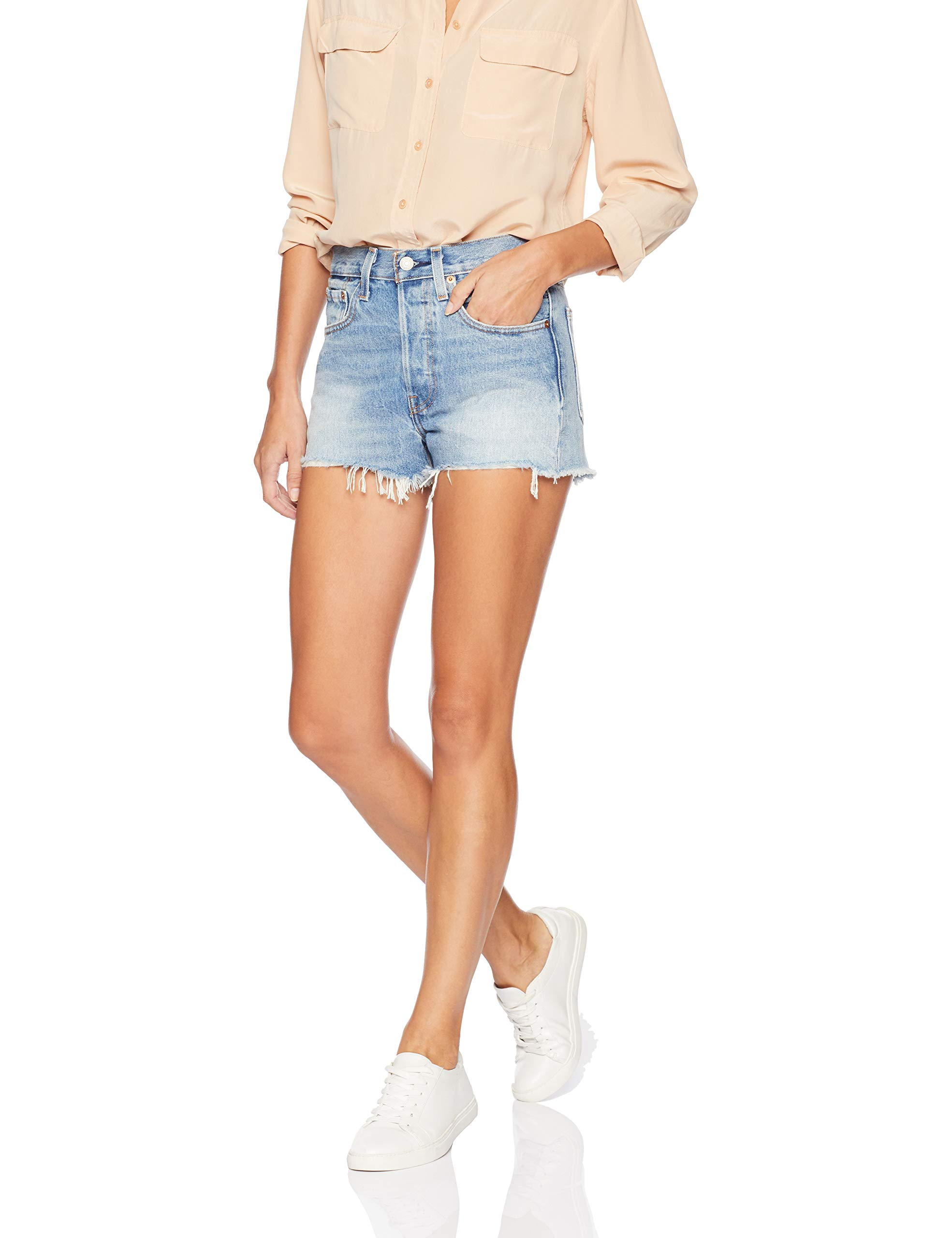 Levi's Women's 501 High Rise Shorts, Bring to Light, 31 (US 12)