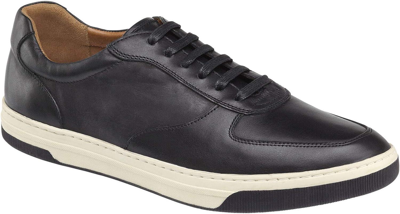 Johnston /& Murphy Mens Fenton U-Throat Shoe Black Full Grain 8 M US