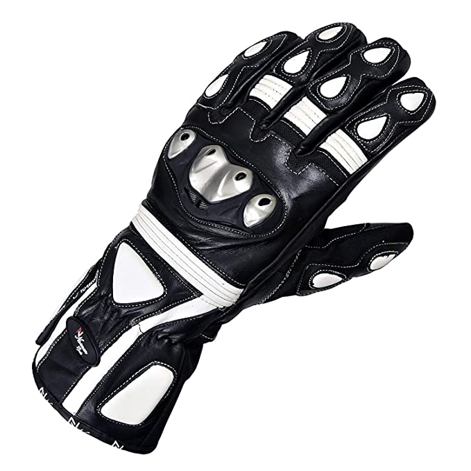 MBSmoto MBG25 Sports Rider Motorcycle Motorbike Touring Protective Leather Long Gloves