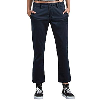 Volcom Junior's Frochickie Classic Chino Pant, Navy, 31: Clothing
