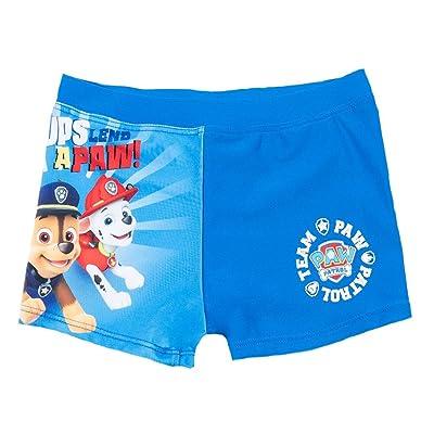 Boxer de bain enfant garçon La Pat' Patrouille Bleu foncé de 3 à 8ans