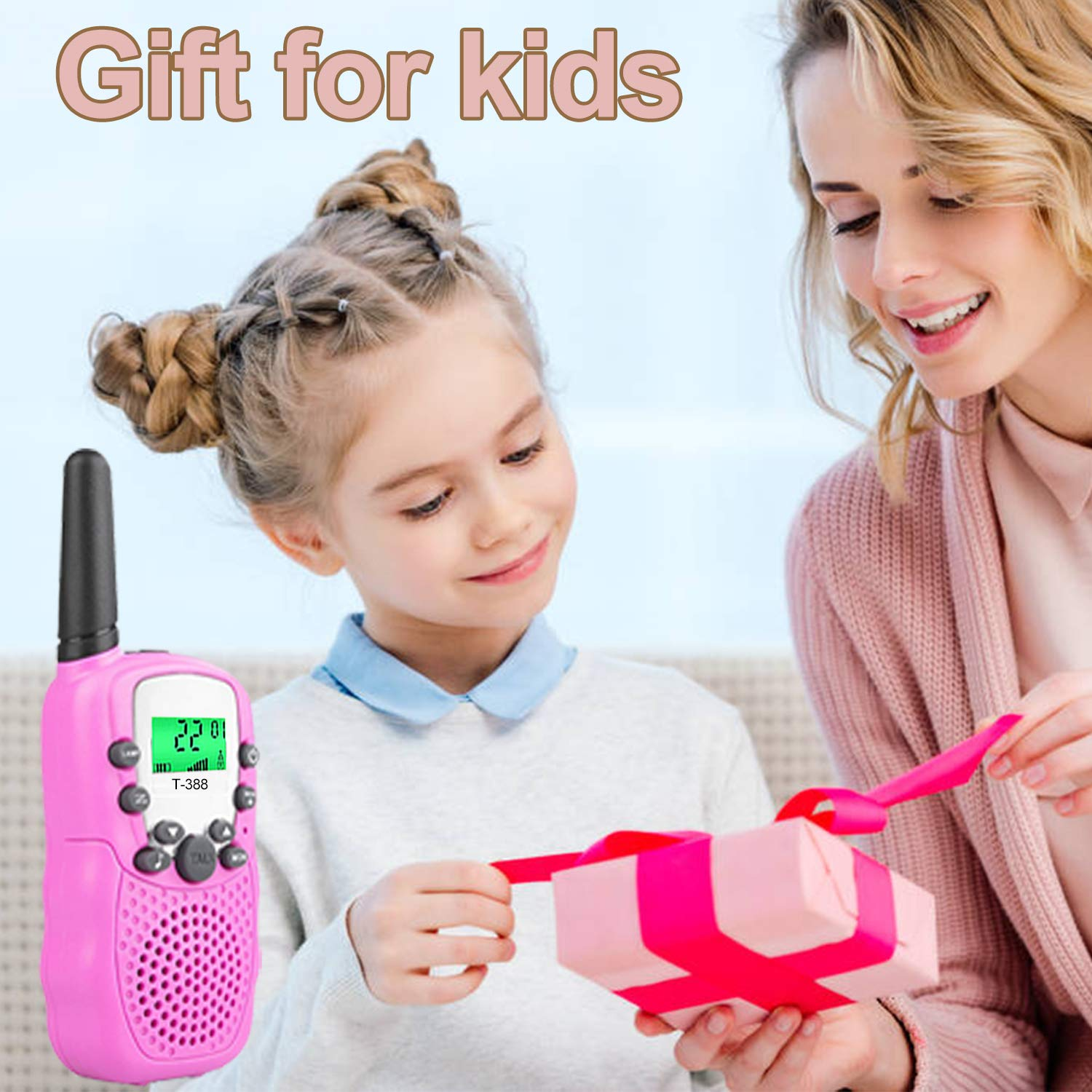 Kids Walkie Talkies Toys for 3-12 Year Old Boys Girls Toddlers, 4 Pack Walkie Talkies with 4 Earphones, 3 Mile Range 22 Channel Flashlight Two-Way Radio, Accessory for Outdoor Adventure Camping Game by iGeeKid (Image #7)