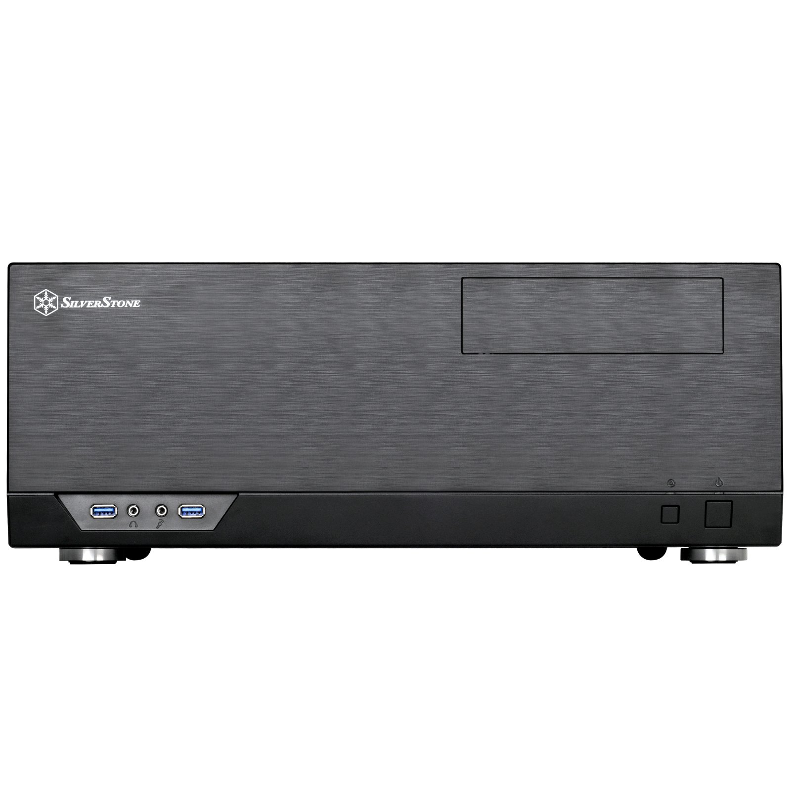 SilverStone Technology Home Theater Computer Case (HTPC) with Faux Aluminum Design for ATX/Micro-ATX Motherboards GD09B by SilverStone Technology (Image #3)