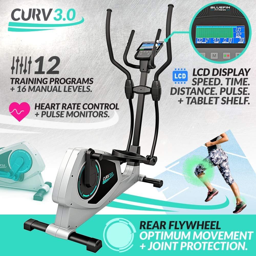 Bicicleta Eliptica Bluefin Fitness CURV 3.0 Elliptical Cross ...