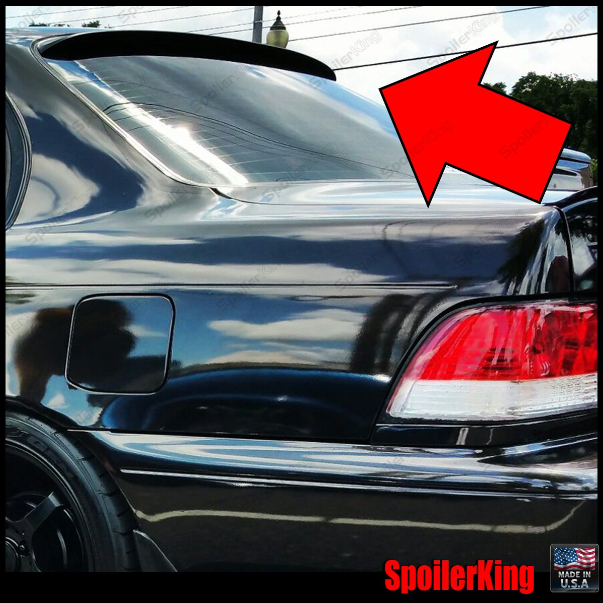 Spoiler King Roof Spoiler (284R) compatible with Toyota Corolla 1993-1997 4dr