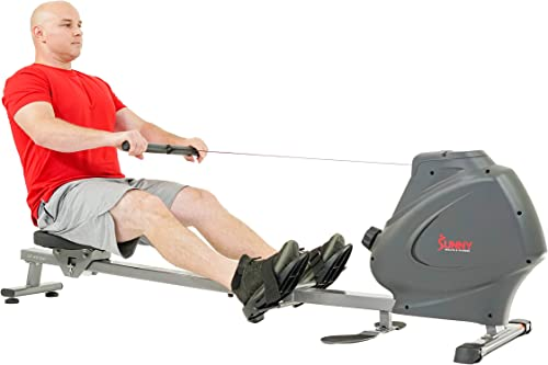 Sunny Health Fitness Multifunction SPM Magnetic Rowing Machine