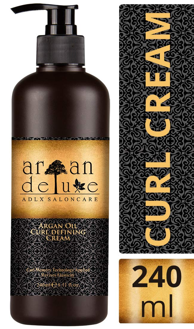 Argan Deluxe Curl Defining Cream in professional quality 8.11 fl. oz. - Curl care cream with argan oil for shine, moisture and elasticity for curly hair