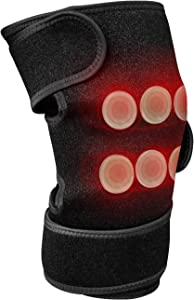 """UTK Far Infrared Heating Pad for Knee Pain Relief, Far Infrared Therapy for Knee, Elbow,6 Jade Stones,3 Heat Settings, EMF Free, Auto Shut Off (Size: 11.81"""" x 7.48"""")"""