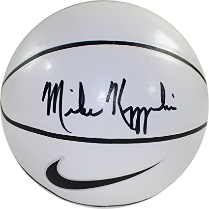 4c3d68104a8 Image Unavailable. Image not available for. Color  Mike Krzyzewski Signed  Nike Elite White Panel Regulation Autograph ...