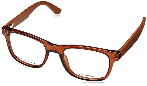 Tommy Hilfiger Brillen Unisex 1314 Wooden Arms X3R, Brown / Brown Wood Kunststoffgestell