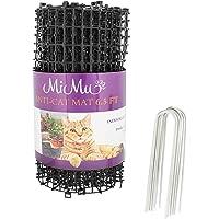 MiMu - Alfombrilla para disuasión para Perros y Gatos, para Exterior e Interior, Gato, con Pinchos repelentes de Gatos, Rollo Continuo en Color Negro, Negro, 6.5 Foot