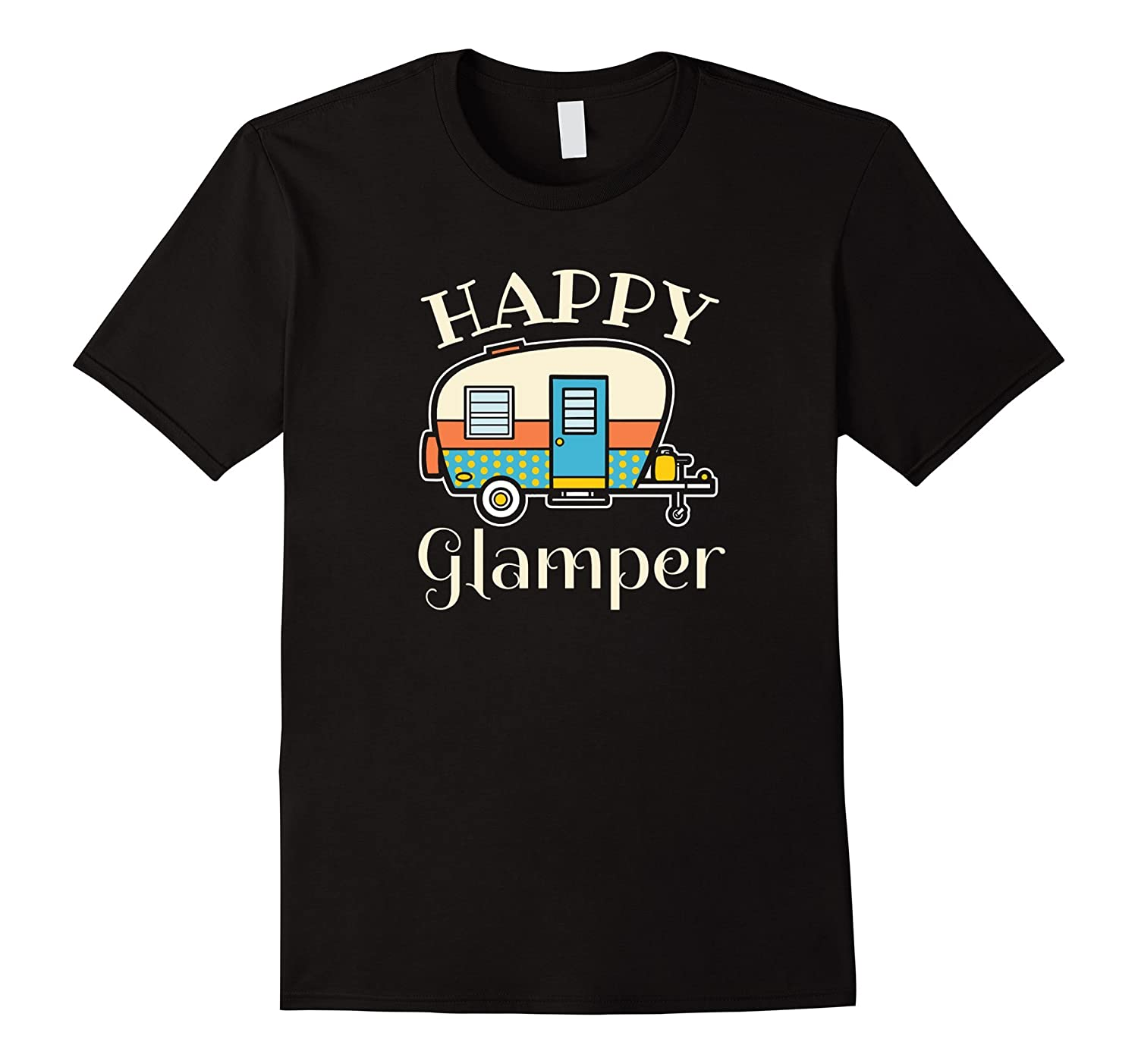Happy Glamper - Womens Glamping Camping T-Shirt-CD