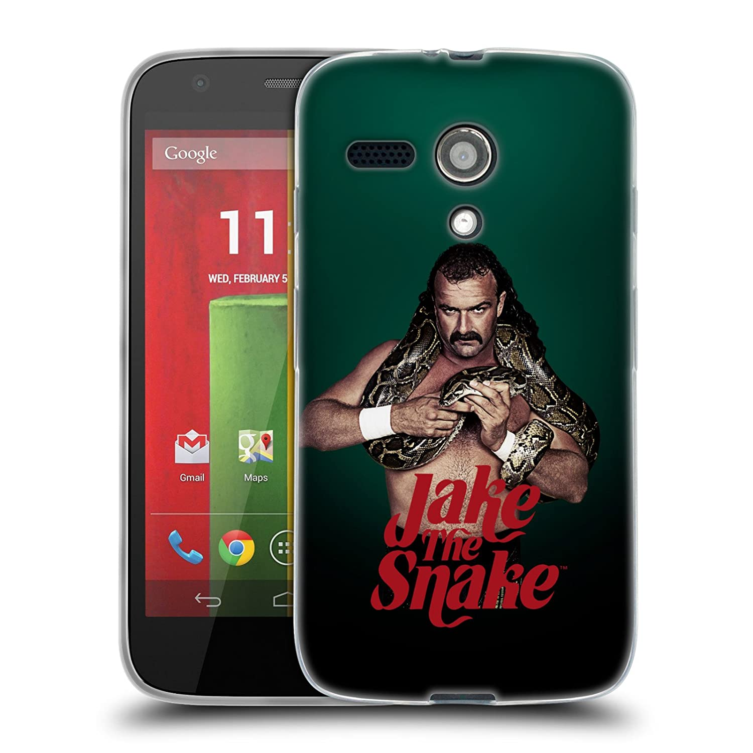 Official WWE Snake Pro Jake The Snake Roberts Soft Gel Case for Droid Turbo 2 / X Force: Amazon.es: Electrónica