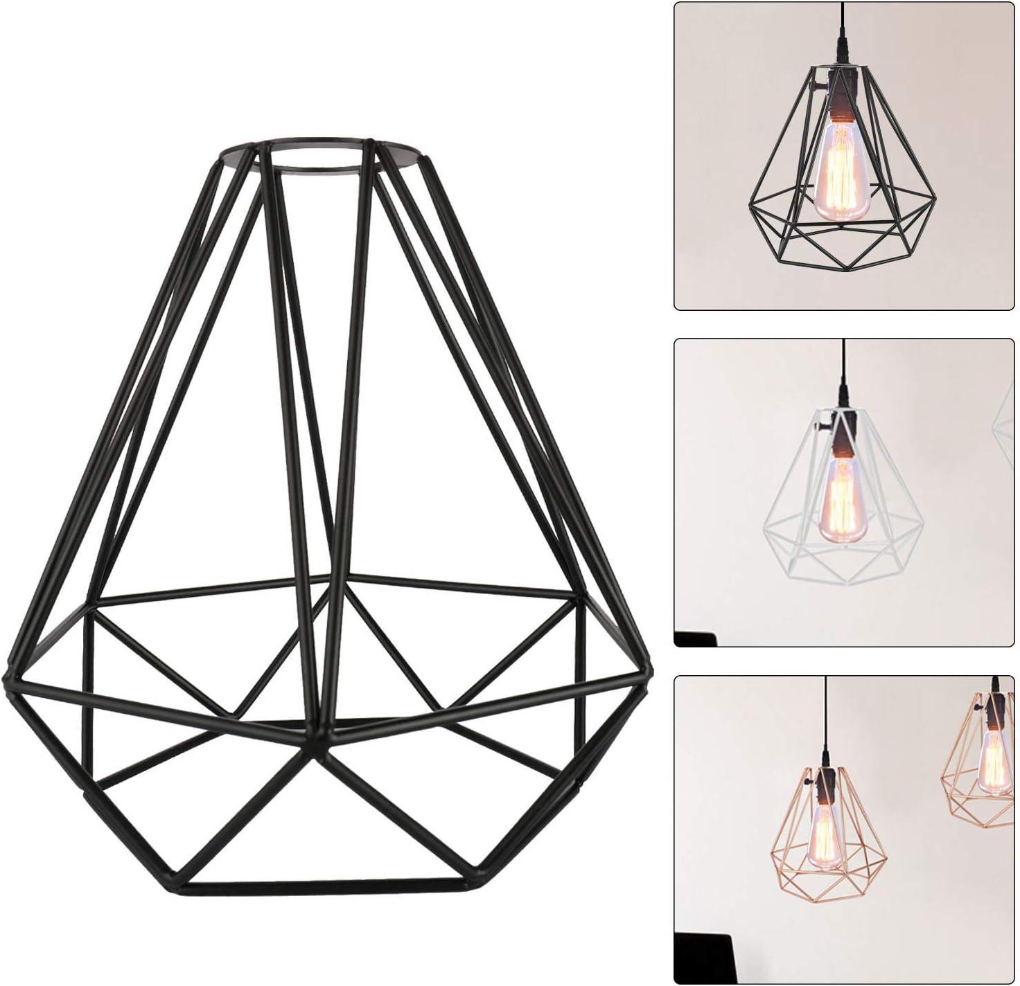 Geometric Retro Wireframe Ceiling Chandelier Lampshade Lighting Metal Easy Fit