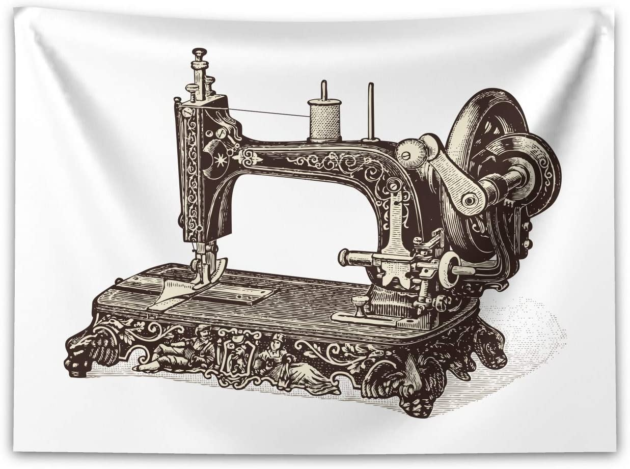 ABAKUHAUS Steampunk Tapiz de Pared y Cubrecama Suave, Máquina De ...