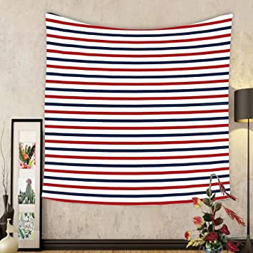 Amazon.com: Gzhihine Custom tapestry Navy Tapestry Classical Striped ...