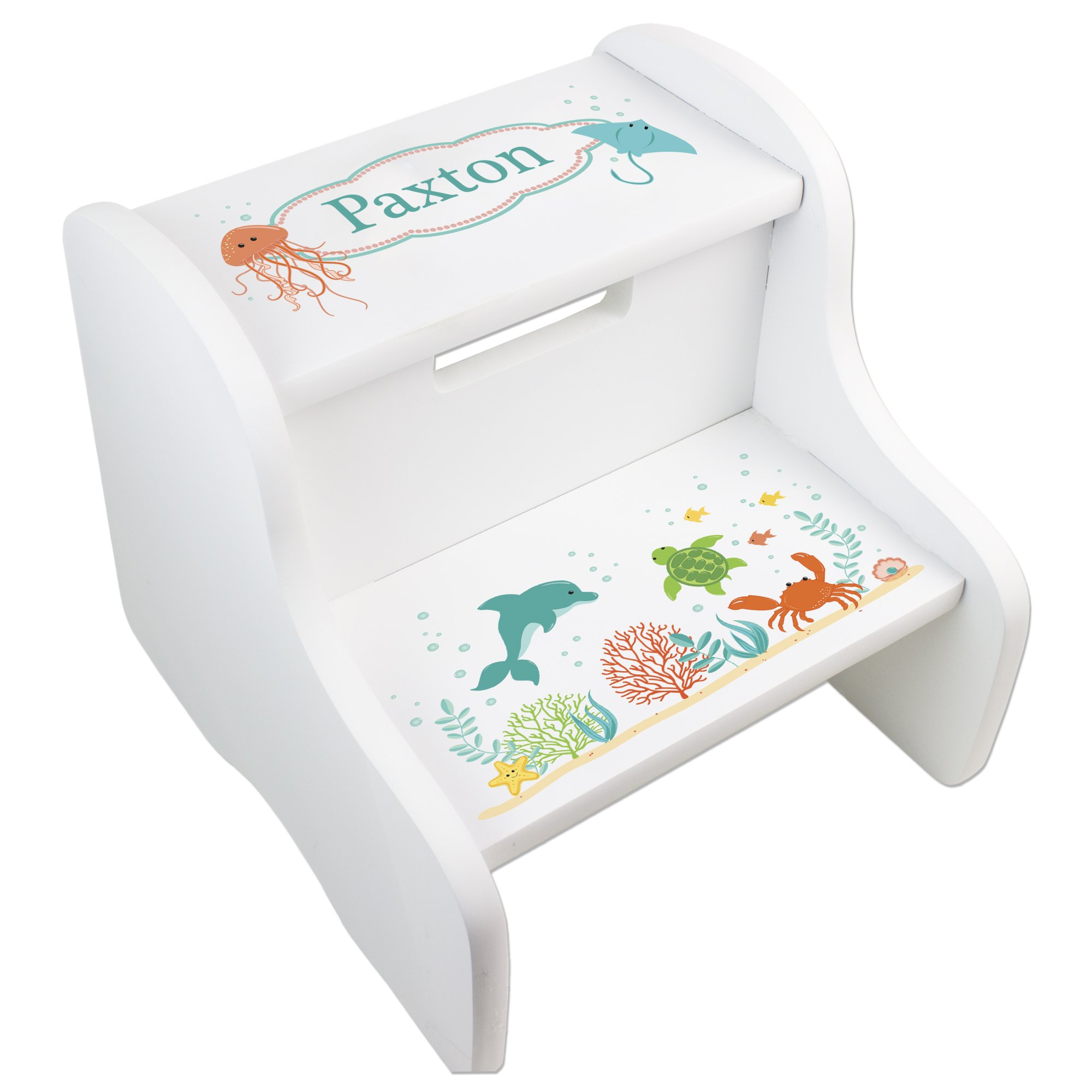 Personalized Natural Sealife Step Stool by MyBambino