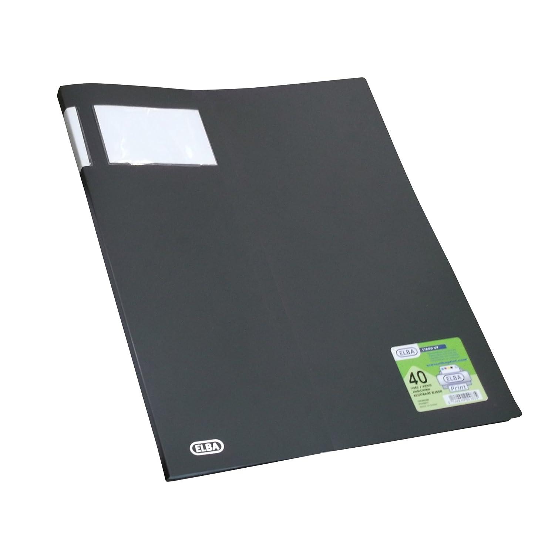 Elba 13590 - Archivador (con 20 fundas de polipropileno para documentos, formato A3, portada 8/10 y fundas 6/10), color negro: Amazon.es: Oficina y ...