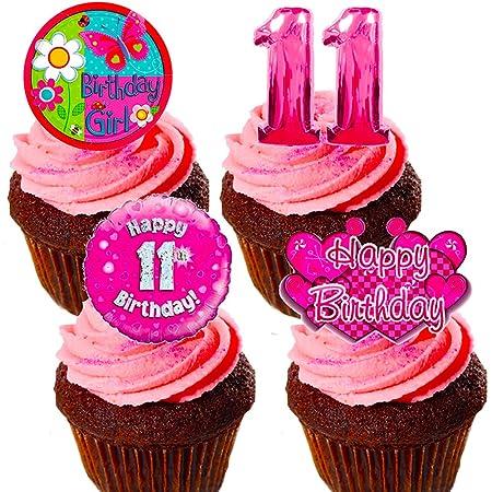 Made4You Decoración Comestible para Tarta de 11 cumpleaños ...