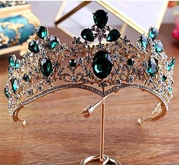 Legierung kristall braut haar zubehör königin krone prinzessin tiara hochzeit haar zubehör