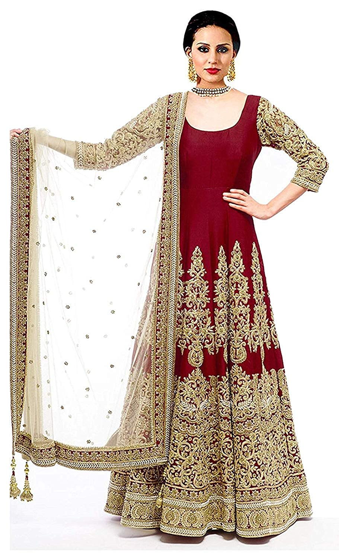 f424c27040 Yjack Creation Banglory Silk Gown (Matrix Maroon Women_Maroon_Free Size):  Amazon.in: Clothing & Accessories