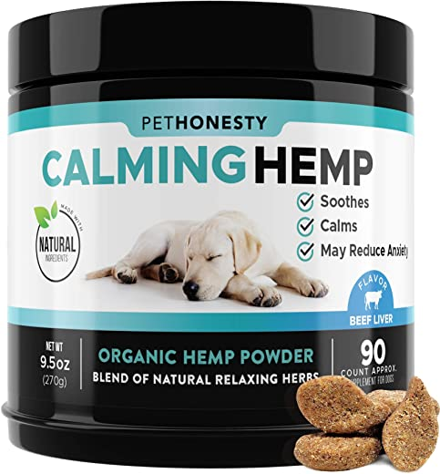 PetHonesty Hemp Calming Treats for Dogs - All-Natural Soothing Snacks...