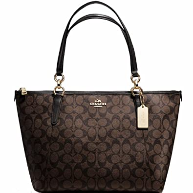 New Authentic COACH Monogram Elegant Classy C Logo Brown Black Shoulder Bag   Handbags  Amazon.com 7869b1673b646