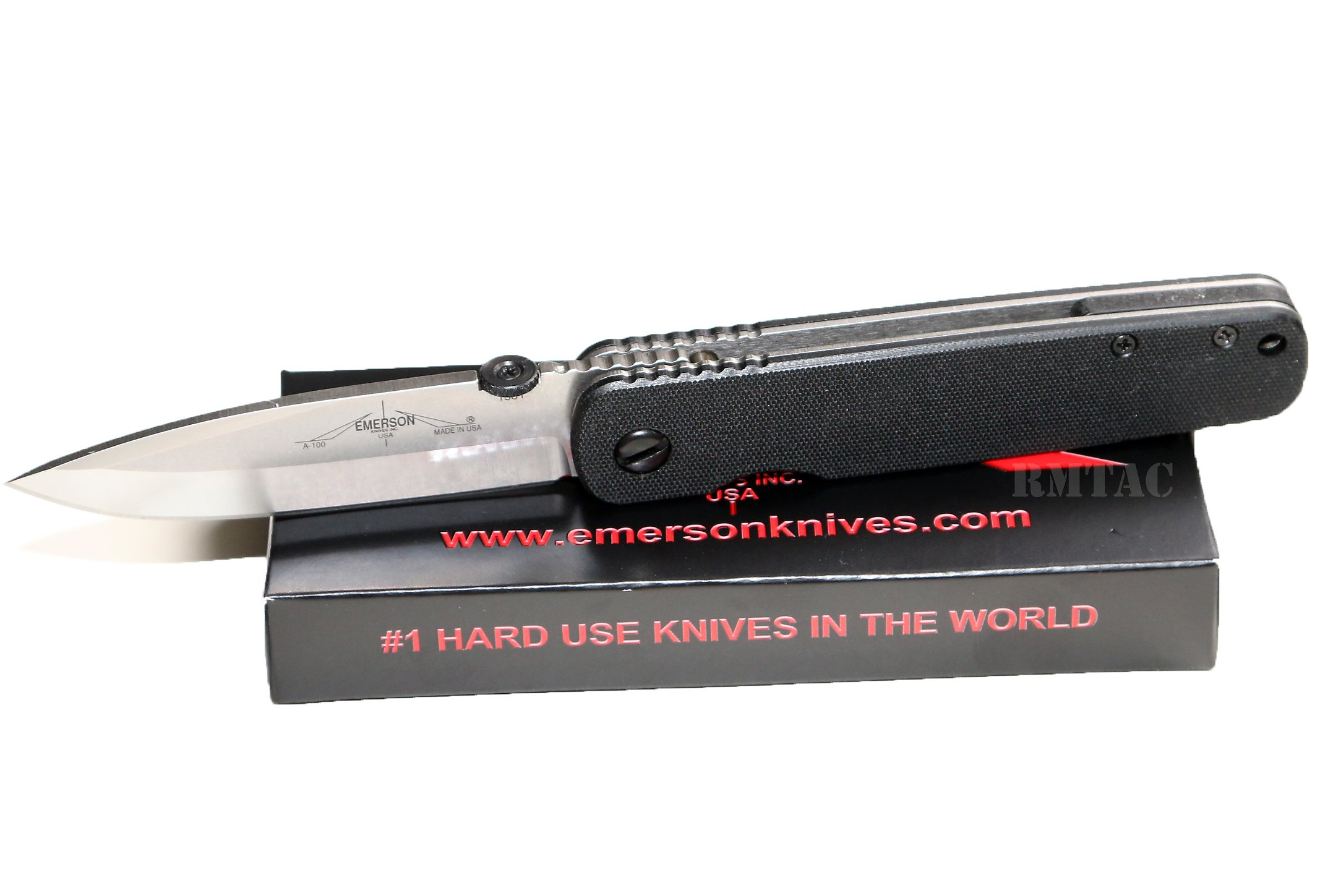 Emerson Knives Gentleman Folder A-100 Satin Blade Razor Pocket Knife
