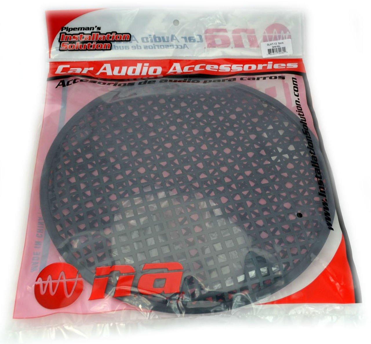 1 Pair 12'' SubWoofer Mid range Metal Mesh Waffle Speaker Grill DJ PA Car Audio