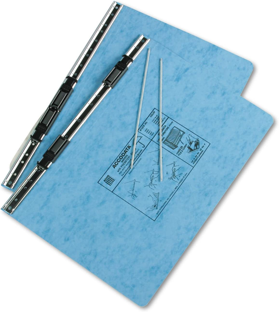 Top and Bottom Loading Binder Expandable for Various Sized Projects. ACCO Light Blue Pressboard Hanging Data Binder 14-7//8 x 8-1//2 Sold As 1 Each