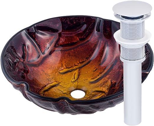 Novatto ROVENTE Glass Vessel Bathroom Sink