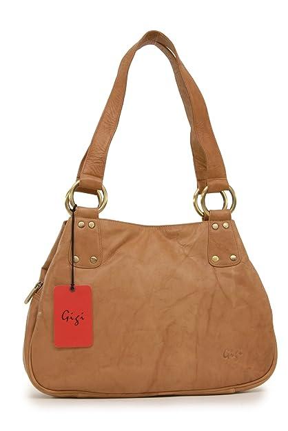 Gigi - - Women s Midi Leather Top Handle Handbag Shoulder Bag - OTHELLO  6819 - e3d834fe28440